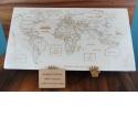 Puzzle Monde artisanal en bois - <p>Composé de 99 pièces, sur chacune d'entre elles, on retrouve:</p> <p>· le nom du pays</p> <p>· Sa capitale</p> <p>· L'indication de certaines grandes villes (quand il y a assez de place)</p> <p>Le Puzzle Monde est celui qui reprend les contours de tous les Continents</p>