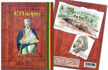 Carnet de route Ethiopie - Réalisé lors d'un voyage seul de 7 semaines en 2011, le carnet de route de Philippe BICHON nous offre un regard sur ce pays bien au delà des clichés et idées reçues. Dans une édition très fidèle au carnet de voyage original, l'auteur-illustrateur partage son voyage. La spontanéité de ses croquis, aquarelles, récit et témoignages écrits en différents alphabets de la main des personnes rencontrées, transporte aussitôt le lecteur sur ses pas.  Ce livre est une invitation à partir en Ethiopie ou vous fera revivre un voyage passé, autrement.  «On n'est pas dans un de ces beaux livres sur papier glacé à la maquette et au calibrage professionnels, mais bien dans le carnet de route encore plein de sable d'un amoureux du voyage ; un ami qui vous aurait prêté pour un temps ses précieuses notes, uniques et personnelles». Libération – nov. 2014