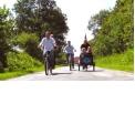 """Balade en Tandem - <p>Le vélo beach cruiser, qu'est ce que c'est ?</p> <p>Vélos des surfeurs californiens, ils se devaient d'être confortables pour parcourir de longues distances en fonction des """"spots de vagues"""".<br />Guidon surdimensionné, selle basse, suspension moelleuse, et look d'enfer ... une nouvelle pratique du vélo !<br />Notre parc est composé des meilleures marques US : ELECTRA®, SCHWINN®, NIRVE®,…</p> <p>Le tandem : Un moment de pur plaisir... à partager à 2 !</p> <p>Caractéristiques de votre tandem Electra® : cadre aluminium, 3 vitesses Shimano Nexus, freins à tambour avant et arriere, selle plate XL noire avec ressorts chromés, jantes alu, potence alu, béquille intégrée, pneu 26"""" RetroRunner Noir.<br /><br />Enfourché votre tandem et partez à la découverte de l'Audomarois, Clairmarais, Saint-Omer et ses faubourgs maraîchers.</p>"""