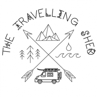 The travelling shed - logo