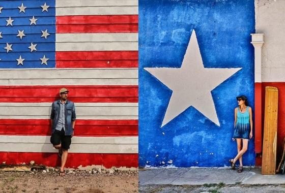 Lost USA drapeau