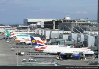 Photo des salles d'embarquements de l'aéroport de Genève