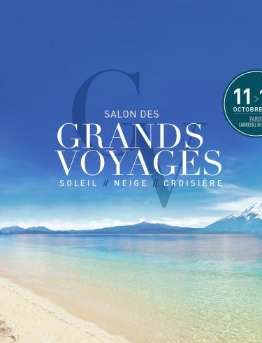 Affiche horizontale du salon des Grands Voyages