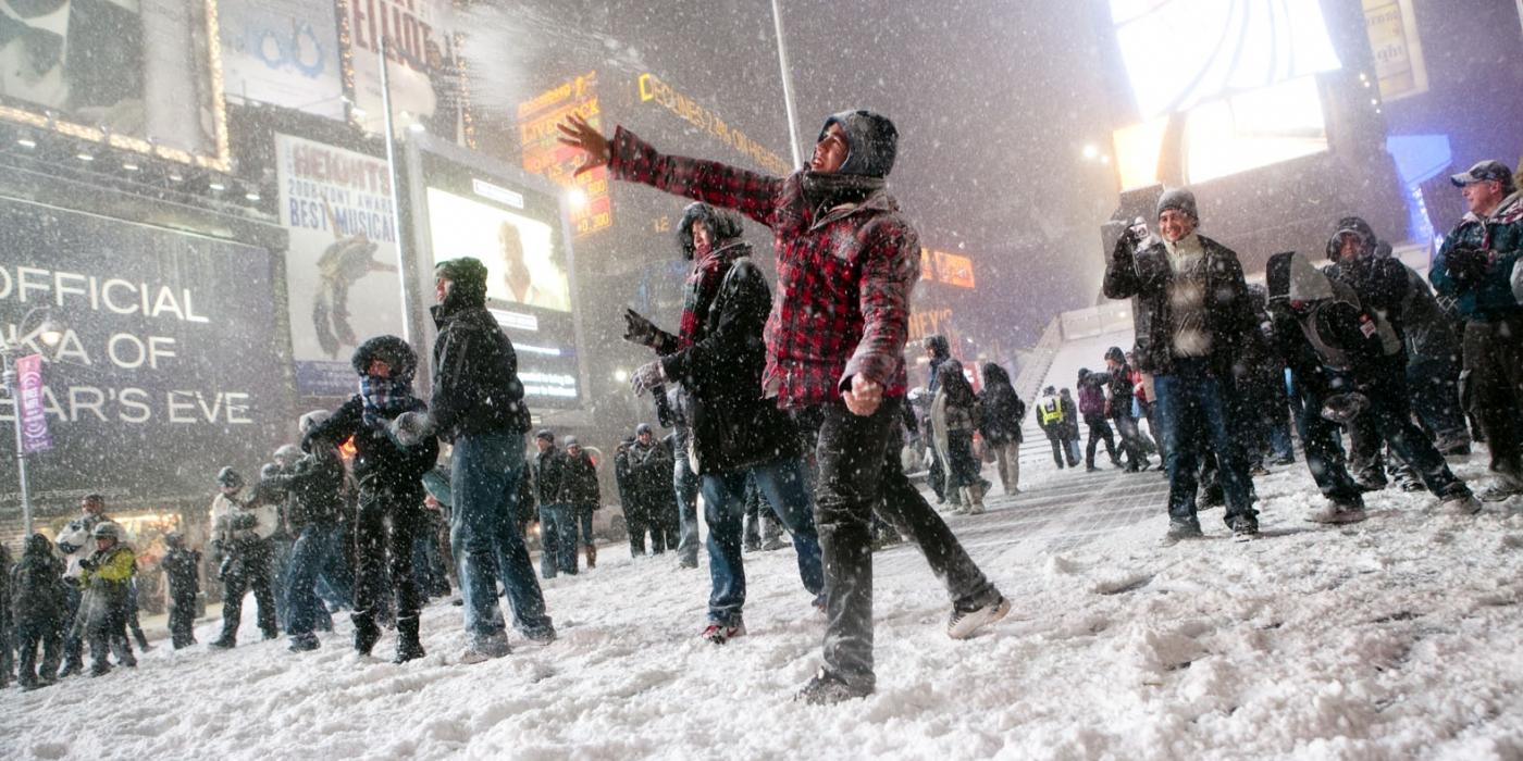 Times Square sous la neige
