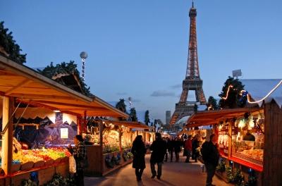 Photo du marché de Noel au Trocadéro