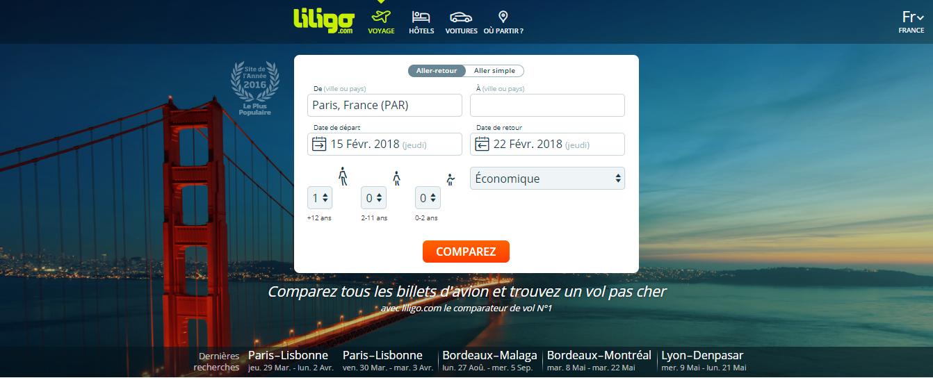 Liligo - home page