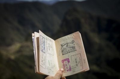 Photo de passeport tampons